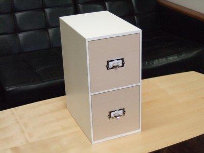 画像3: レトロモダンなデザインの卓上収納 木製 シオンシステム収納 CDが入るサイズ ホワイト