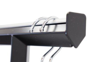 画像1: おしゃれでアパレルに最適なハンガーラック。業務用デザインハンガーラック ブラック・ダイヤモンド