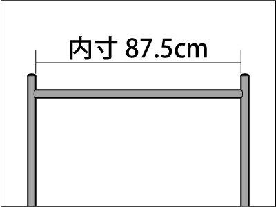画像1: 【耐荷量100kg以上】90cm幅 高品質で低価格! 業務用 美しいスチールハンガーラックストロンガー【即納】