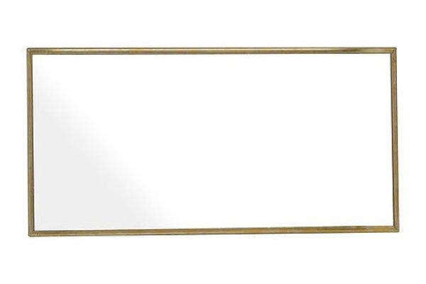 画像1: 【縦横両用】真鍮ミラー 壁掛けミラー ウォールミラー W200×H400 (1)