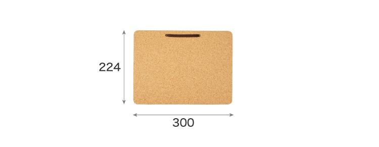 Lサイズコルクボードのサイズ