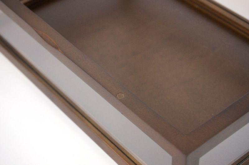 5面ガラス 木製ハイグレード コレクションケース Lサイズ ブラウン