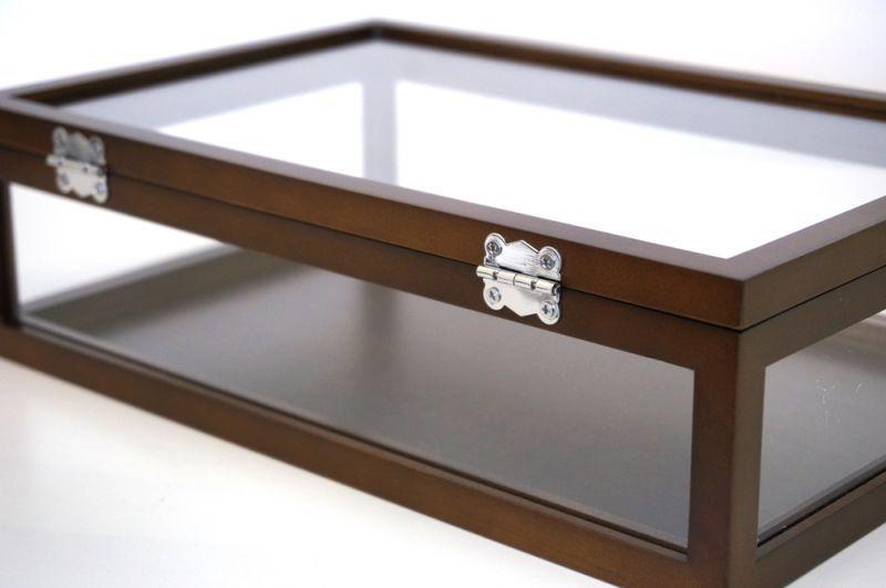 5面ガラス 木製ハイグレード コレクションケース Mサイズ ブラウン