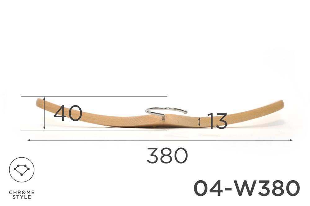 上質なスーツのための薄型トップスハンガー 幅380mm