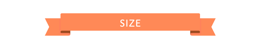 サイズは3サイズ