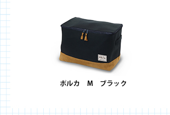 ポルカ衣類収納ボックス Mサイズ ブラック